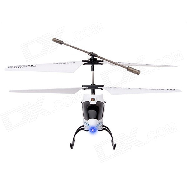 3.5-CH Rechargeable IR R/C Helicopter w/ Gyro - White + Black