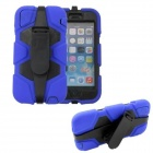 Protective Shockproof Silicone Back Case Cover Armor w/ Holder + Clip for IPHONE 6 PLUS - Blue