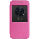 NILLKIN Protective PU Leather + PC Case Cover w/ Auto Sleep + Window for HUAWEI Ascend G7 - Rosy