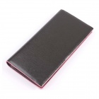 T813-3 Men's Fashionable PU Long Wallet Purse - Black + Pink