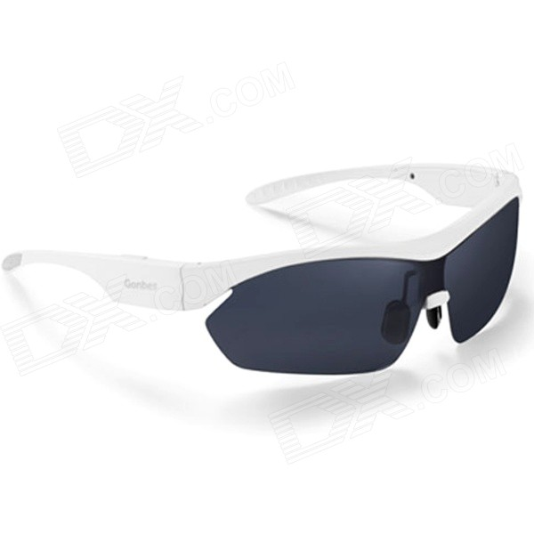 Gonbes K2 Bluetooth V4.0 Stereo Smart Sunglasses w/ Earphones - White