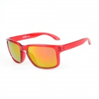 RS9000C10 Stylish UV400 Protection PC Sunglasses - Translucent Red + Red
