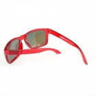 SCREW RS9000C10 UV400 Frame Sunglasses - Translucent Red + Red
