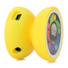Portable Mini Yo-Yo Style MP3 Player w/ TF - Yellow