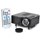 GM40 1080P Portable LED Projector w/ VGA, USB 2.0, AV, SD, HDMI - Black (EU Plug)