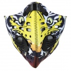 NUCKILY Cycling Windproof Dustproof Anti-haze Face Mask - Yellow