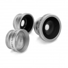 OD-009 4-in-1 Lens set for Cellphone - Silver