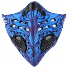 NUCKILY Cycling Windproof Dustproof Anti-haze Face Mask - Blue