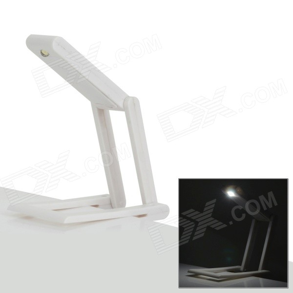 YHX-1070 Clip-on 0.3W 20lm 6000K LED Lámpara de mesa de luz blanca - Blanco