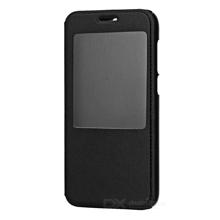 Flip-open PU Leather + PC Case for Huawei G7 / C199 - Black