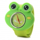 Casual Cartoon Frog Style Silicone Band Analog Quartz Slap-On Watch - Green (1 x 377)