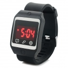 Fashion Silicone Band Touch Screen Digital LED Watch w/ Red Backlight - Black (1 x CR2032)
