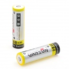Warsun Rechargeable 2200mAh 3.7V 18650 Li-ion Battery - Yellow + Silver (2 PCS)