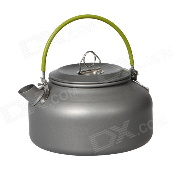DS-08 0.8L Portable Outdoor Camping Aluminum Alloy Coffeepot / Teapot / Kettle - Blackish Grey
