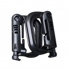 Outdoor Portable D-Shaped PVC Locking Carabiners - Black (2 PCS)