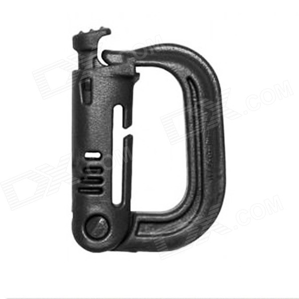 2PCS Outdoor Portable D-Shaped PVC Locking Carabiners