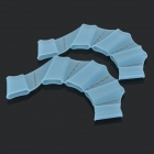 Soft Silicone Webbed Gloves for Swimming - Blue (Size L)