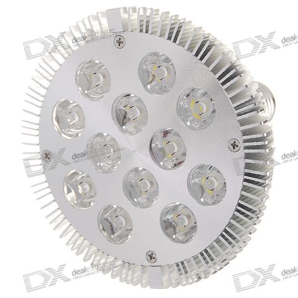 E27 12W 12-LED 1080-Lumen 6000K White Light Bulb (85~265V AC) e27 9w 9 led 810 lumen 6000k white light bulb 85 265v ac