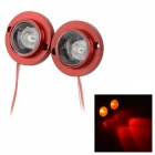 Universal 6W 6lm 635nm 2-LED Red Light Motorcycle Stoplights Brake Lamps - Red (12V / 2 PCS)
