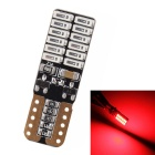 MZ T10 4.8W 720lm 635 ~ 700nm 24 SMD 4014 LED Red ERROS Canbus Car Lamp Liquidação ( 12 ~ 24V)