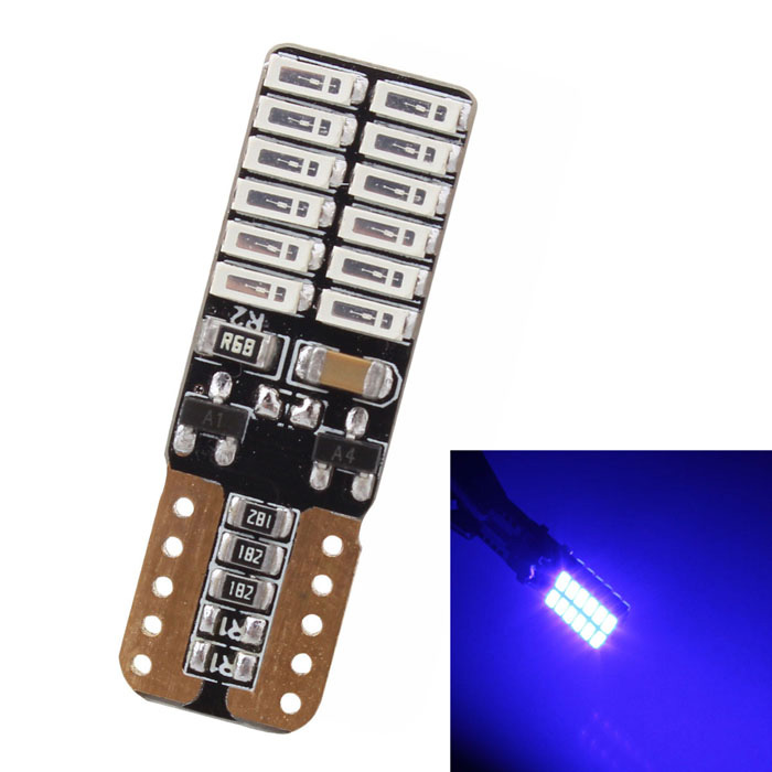 MZ T10 4.8W 720lm 24-SMD 4014 Blue Canbus Car Clearance Lamp
