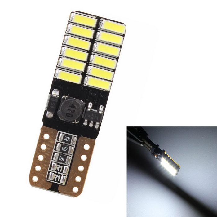 MZ T10 4.8W White 24-SMD LED Error-Free Canbus Car Clearance Lamp