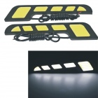 "Carking 6W 400lm ""T"" Shape 108-COB Car Daytime Running Light (2PCS)"