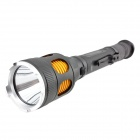 1000lm 5-Mode Warm White Light Outdoor Long-Range LED Tactical Flashlight - Black (2 x 18650)