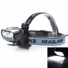 Marsing H6 High-Power 3000lm 6 x 3535 SMD LED Cool White 3-Mode Bike Light / Headlamp (4 x 18650)