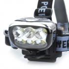 Marsing H6 3000lm 6 x 3535 SMD LED Cold White 3-Mode Bike Light