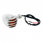 DIY Yellow Light Motorcycle Steering Lamp for Harley - Sliver (2PCS)