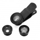 Clip-on 4-in-1 Lens set for Cell Phone - Black