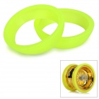 Silicone Protection Band / Guard Circle for Yo-Yo - Fluorescent Green (2pcs)