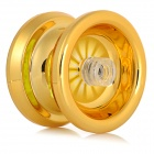 Gold Plated Aluminum Alloy Yo-Yo Toy w/ Strap for Kids / Children - Gold