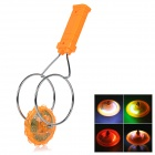 Magnetic Spinning Top Toy w/ LED Light Effect for Kids - Orange + Silver ( 3 x LR44)