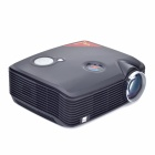 PH5 2500lm 1080P LCD Full HD Home Theater LED Projector w/ HDMI / VGA / AV / USB - Black