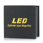 Cylindre type 3LED lecture de lumière blanche 5X loupe - rouge (2 * CR2016)