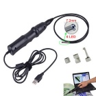 7.2mm Waterproof 6-LED 300KP HD USB Wired Borescope / Endoscope Set - Black