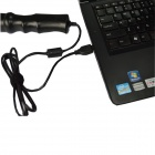 7.2mm impermeable 6-LED 300KP HD USB con cable agujero - negro