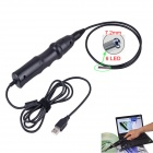 7.2mm Waterproof 6-LED 300KP HD USB Wired Borescope / Endoscope - Black