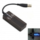 Jtron USB Capacity Tester with Blue Display - Black