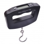 NEJE SZ0059-1 Portable LCD Digital Hook Scale - Black (50kg / 10g)