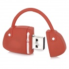 Mini bolso de estilo de PVC USB 2.0 disco flash drive - rojo + blanco (8 GB)