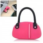Fashionable Mini Handbag Style PVC USB 2.0 Flash Drive Disk - Deep Pink + Black (16GB)