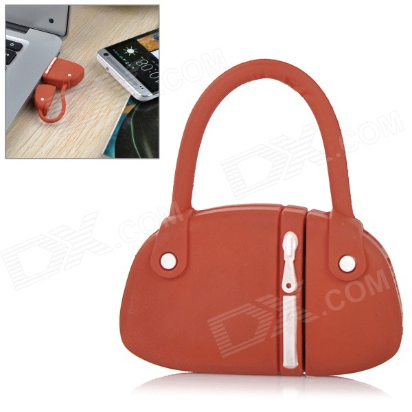 Mini Handbag Style PVC USB 2.0 Flash Drive Disk - Red + White (64GB)