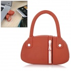 Fashionable Mini Handbag Estilo PVC USB 2.0 Disco Flash Drive - Vermelho + Branco (64GB)