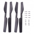 Carbon Fiber Hélices para AR.Drone 2.0 Quadcopter - Black (4 PCS)
