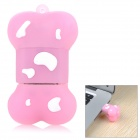 Cartoon-Hundeknochen-Art-Silikon-USB 2.0 Flash Drive Festplatten - Pink + White (16 GB)