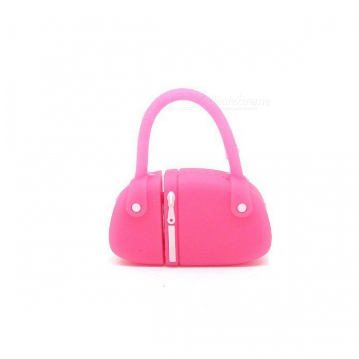 Mini Handbag Style PVC USB 2.0 Flash Drive Disk - Deep Pink (4GB)