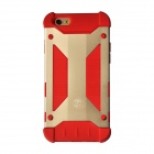 GeekRover Armor Hybrid Protective Metal + Silicone Back Case for IPHONE 6 - Golden + Red